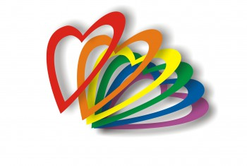 4070569 - valentine card in gay flag colors